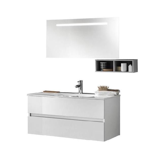 Mobile da bagno sospeso bali 10c bianco lucido tft
