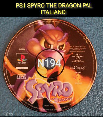 Ps1 spyro the dragon - ps1 ps2 ps3 playstation pal black