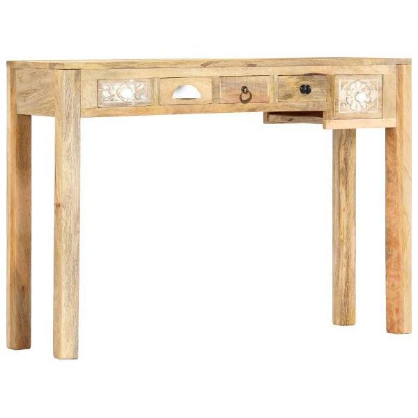 Vidaxl tavolo consolle 110x30x75 cm in legno massello di