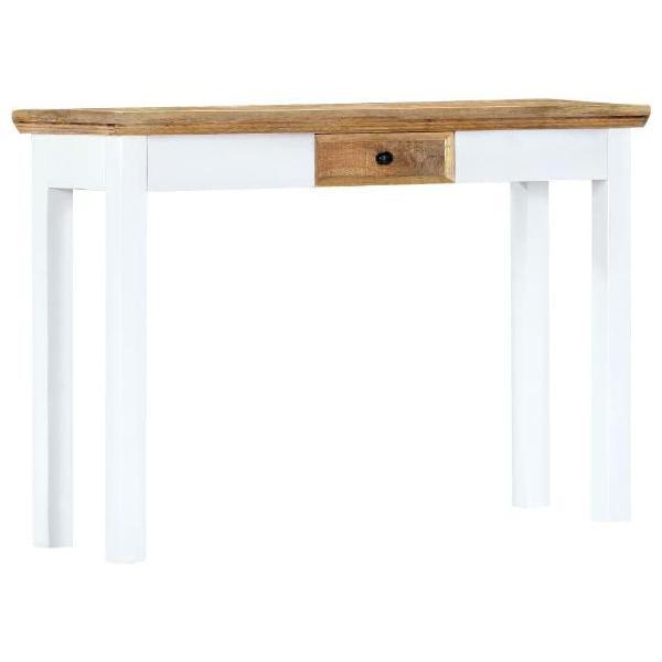 Vidaxl tavolo consolle bianco e marrone 110x35x75 cm