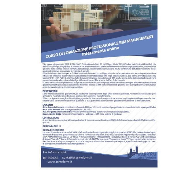 Corso di formazione bim management qualificato icmq