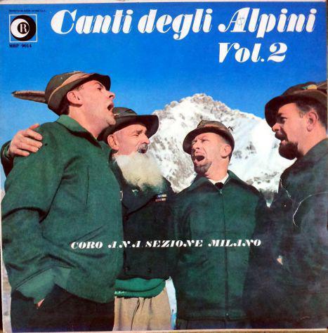 Disco lp 33 giri canti degli alpini vol.2