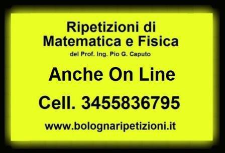 Ripetizioni di matematica e fisica a bologna anche on line
