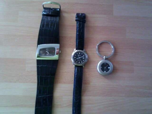 Stock/lotto 3 orologi funzionanti emerson, cadet