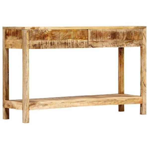 Vidaxl tavolo consolle 120x35x75 cm in legno massello di