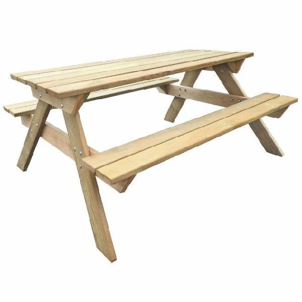 Vidaxl tavolo da picnic in legno fsc 150x135x71,5 cm