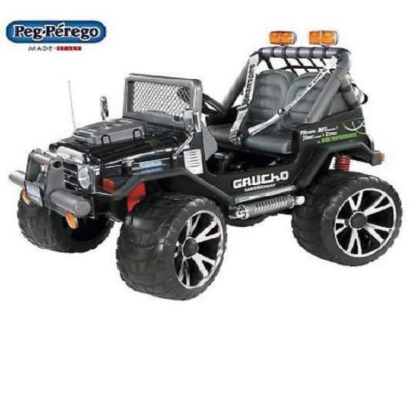 Auto macchina elettrica jeep gaucho 24v 24v gomma 2 posti
