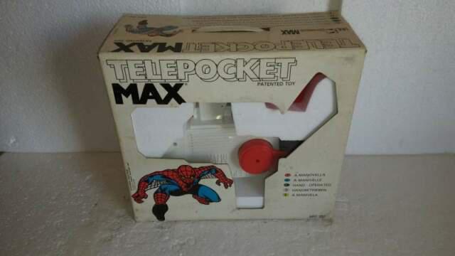 Giocattolo anni 70 telepocket max a manovella (sigillato)