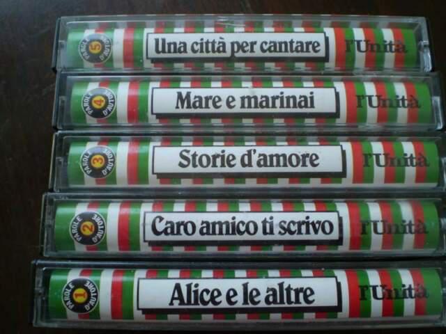 Lotto di 5 musicassette di cantanti italiani