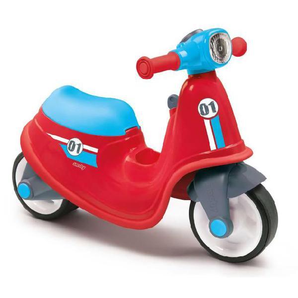 Smoby motorino giocattolo cavalcabile rossa e blu