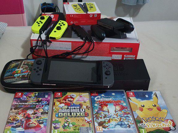 Nintendo switch giochi e vari accessori