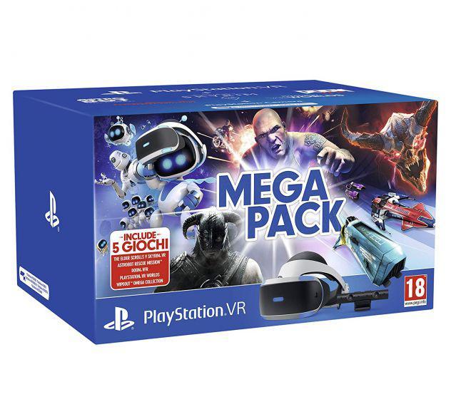 Playstation vr - mega pack visore ps4 sony play station 4 +