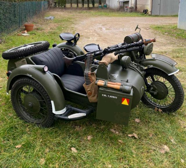 Sidecar militare kmz dnepr mt 9
