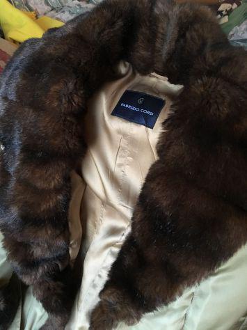 Vendo giaccone imbottito donna color cammello usato ottime