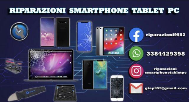 Riparazioni assistenza cellulari smartphone tablet computer