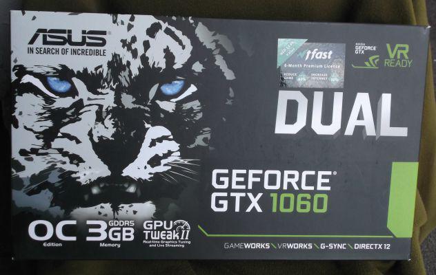 Scheda grafica asus geforce gtx1060 3gb dual gddr5.