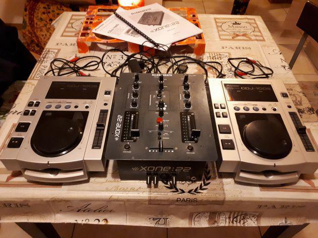 Pioneer due cdj 100 + mixer allen & heat