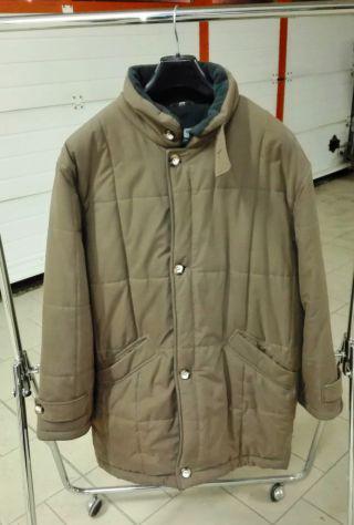Taglia 50, giaccone lungo, m. brugi, colore marrone chiaro
