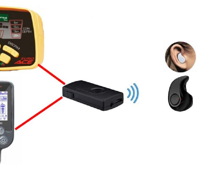 Kit auricolare senza fili wifi universale per metal detector
