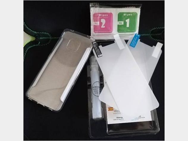 Per Huawei Mate 20 Pro cover in silicone + 2 pellicole Nuovo