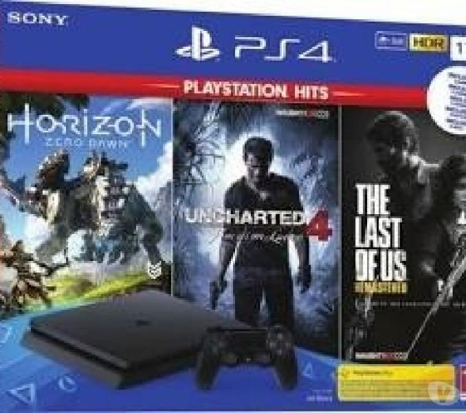 Sony playstation 4 ps4 1tb f chassis slim hdr+uncharted+zero