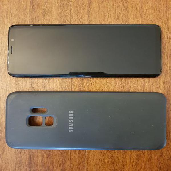 Samsung galaxy s9 black no brand con cover samsung
