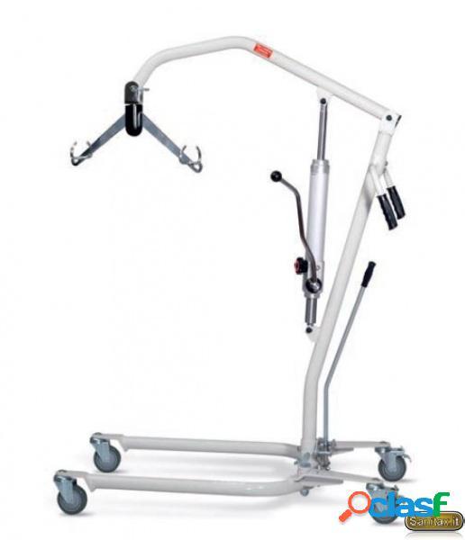 Sollevatore per disabili manuale +completo di imbragatura - portata 150 kg - wimed safelife