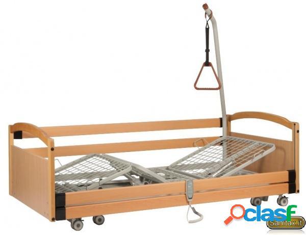 Termigea - letto elettrico da degenza bariatrico 3 snodi elevabile - l. 120 cm - portata 200 kg.