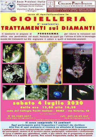 Corso gioielleria - roma 4 luglio 2020 trattamenti sui