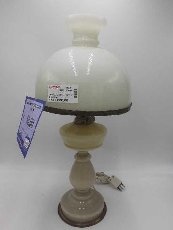 Lampada vintage tavolo opalina