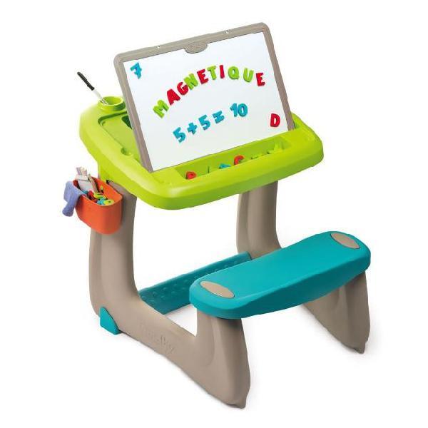Smoby tavolino da disegno per bambini little pupils verde e