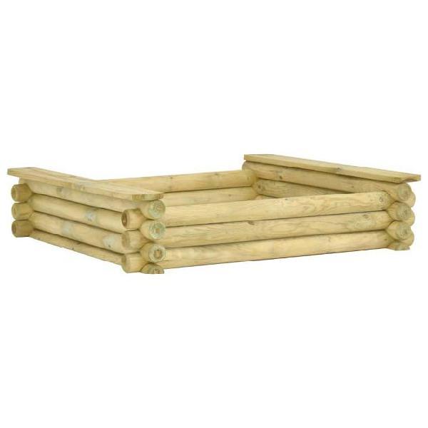 Vidaxl sabbiera 120x120x27 cm in legno di pino impregnato