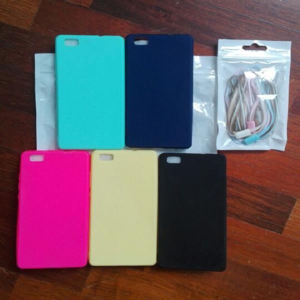 Cover huwei p8 lite in silicone (5 pezzi)
