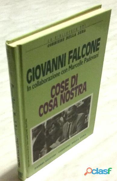 Cose di cosa nostra di giovanni falcone fabbri editori corriere della sera, 1995
