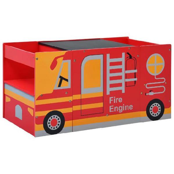 Vidaxl set tavolo per bambini 3pz design camion dei pompieri