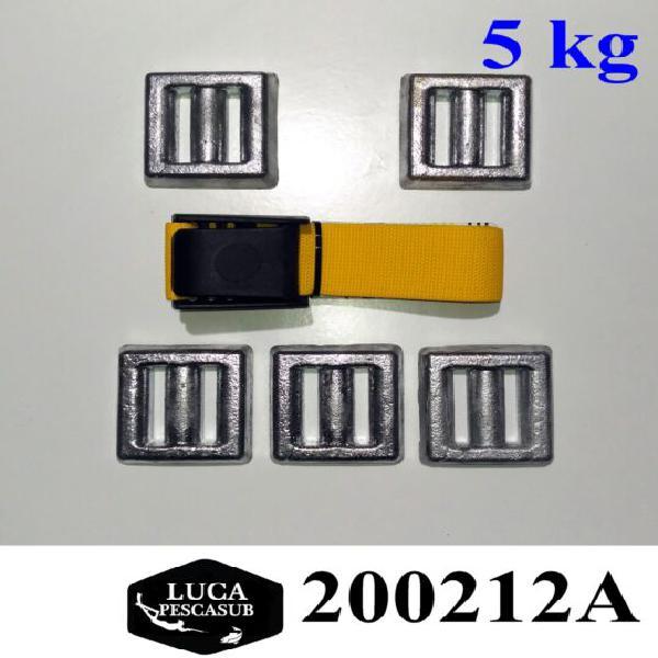 Cintura porta piombo zavorra sub + 5 kg di piombi