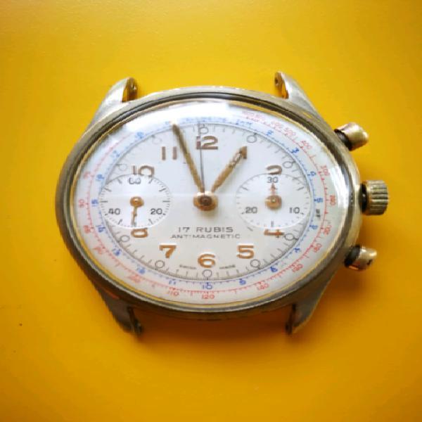 Orologio cronografo vintage landeron 48