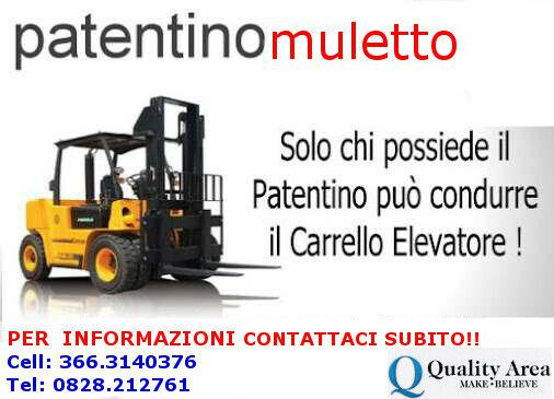 Patentino carrello elevatore (muletto) -(in tutta italia)