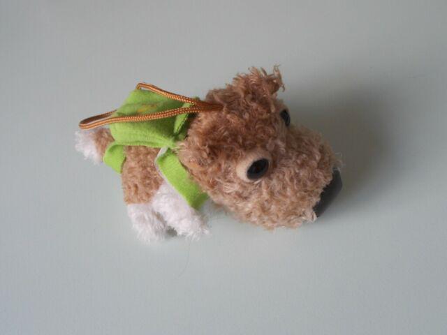 Peluche di yorkshire con zainetto, ciondolo cm 12