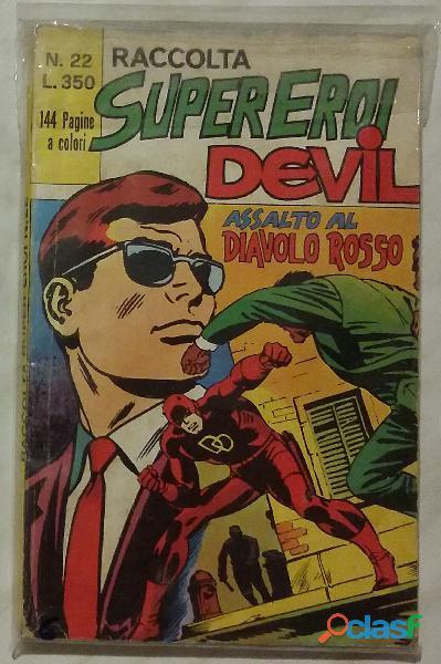 Raccolta super eroi devil n.22 dell'aprile 1974   editoriale corno perfetto