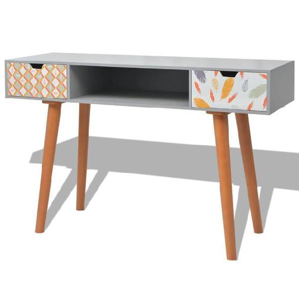 Vidaxl tavolo consolle in mdf 120x40x78 cm grigio