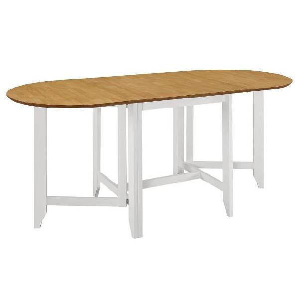 Vidaxl tavolo da pranzo estensibile bianco (75-180)x75x74 cm