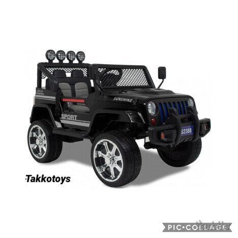 Auto macchina elettrica jeep 4x4 2 posti n gomma