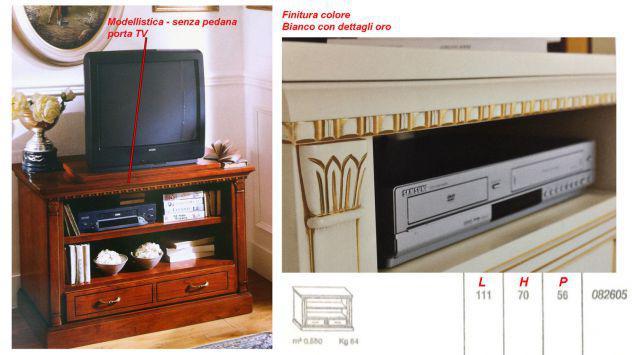 Base porta tv colore bianco arte povera base
