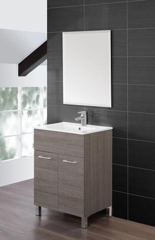 Mobile da bagno composizione bagno 60cm rovere scuro