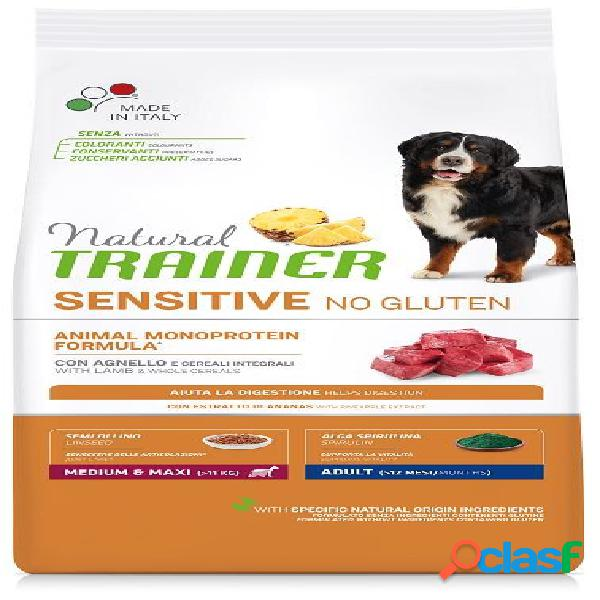 Trainer natural sensitive no gluten adult medio maxi agnello kg 3