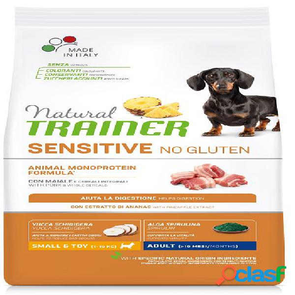 Trainer natural sensitive no gluten adult small & toy / mini kg 2...