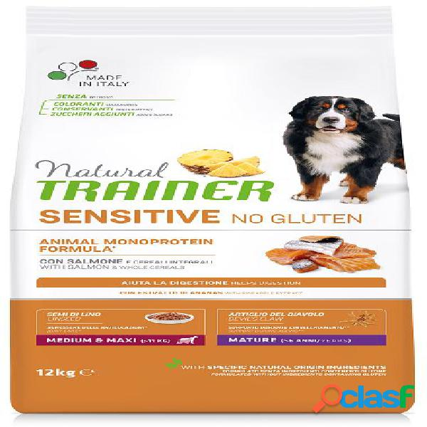 Trainer natural sensitive no gluten maturity medio maxi salmone kg 12
