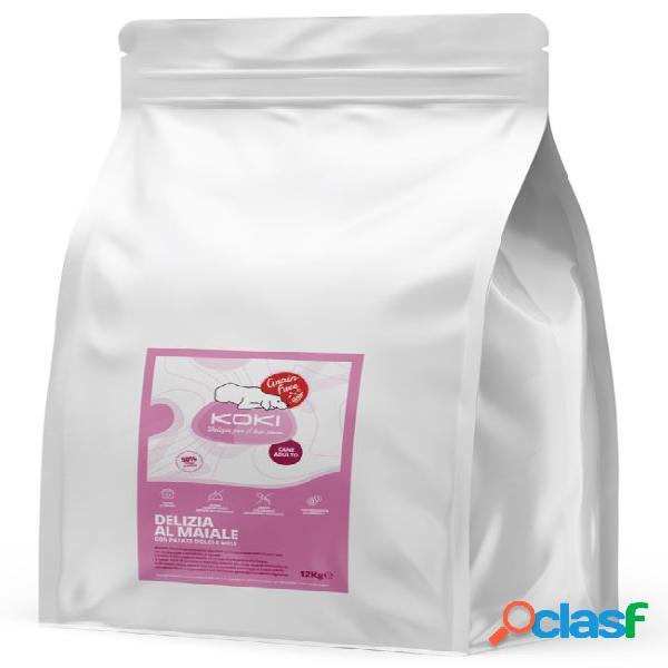 Koki grain free adulto kg 12 delizia al maiale con patate dolci e...