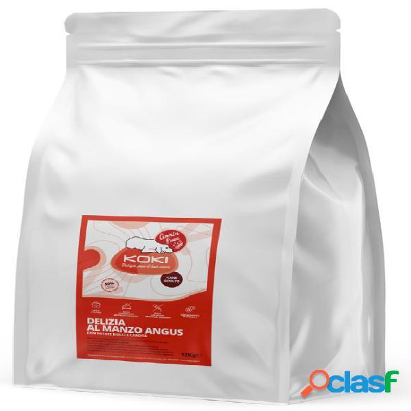 Koki grain free adulto kg 12 delizia al manzo con patate dolci e...